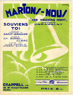 Search sheet music covers from the lyricist Saint Granier