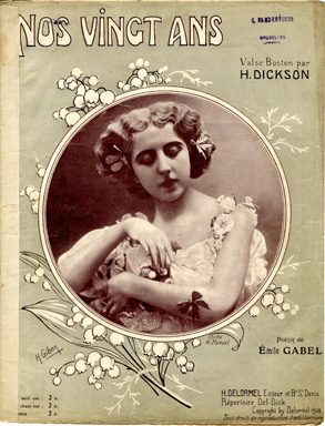 Search sheet music covers from the lyricist Emile Gabel