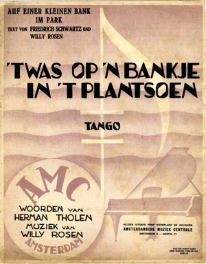 Queen Ann Bankje.Search Sheet Music Covers From The Composer Willy Rosen