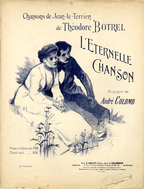 Search sheet music covers from the lyricist Th odore Botrel
